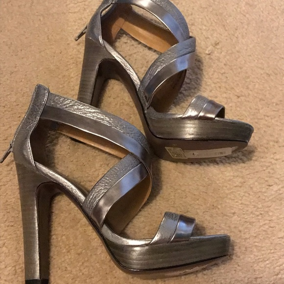 Coach Shoes - Silver Coach strappy sandals